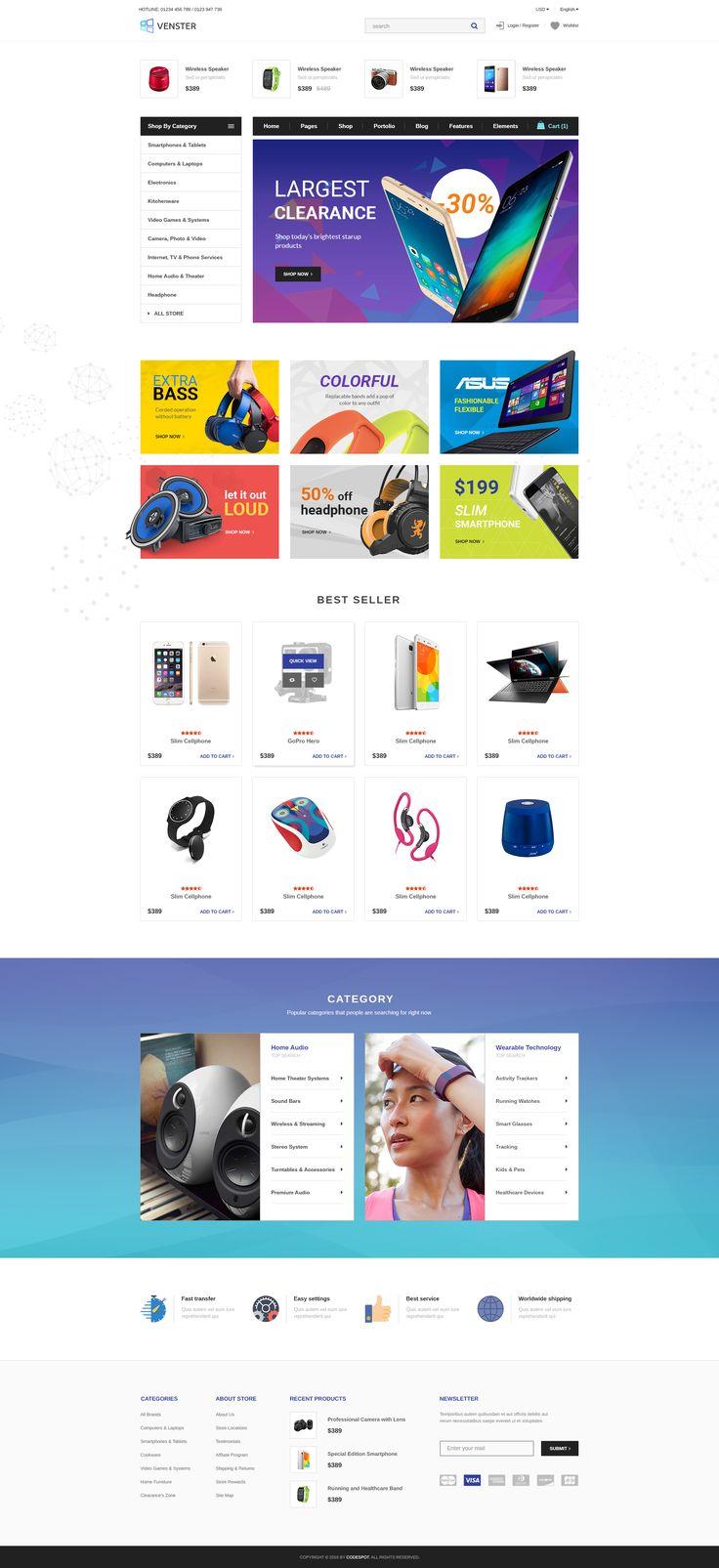 Venster - Computer Woocommerce WordPress Theme #revolution slider mobile seo #supermarket #venster fashion jewelry • Download ➝ https://themeforest.net/item/venster-computer-woocommerce-wordpress-theme/19781588?ref=pxcr