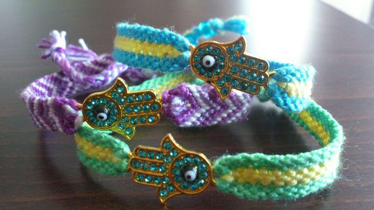 Hamsa friendship bracelet in many colours!!