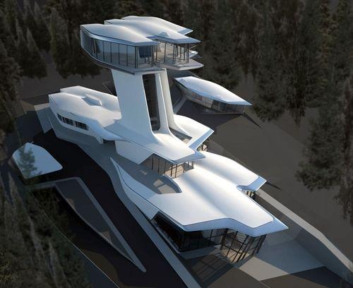 La top model recibió como regalo de su novio el multimillonario ruso Vladislav Doronin esta casa creada por famosa diseñadora y arquitecto iraní Zaha Hadid reconocida por sus creaciones ecológicas y...