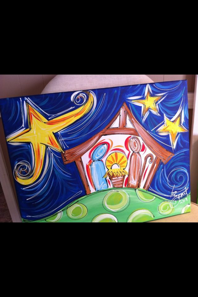 Nativity to paint with kids