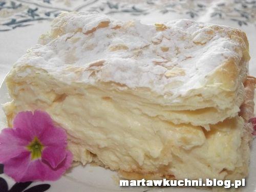Karpatka z ciasta francuskiego z kremem budyniowym   martawkuchni
