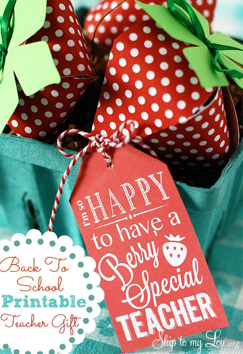 "Free Printable ""Berry Special Teacher"" Gift Tag for Back to School #backtoschool #freeprintable"