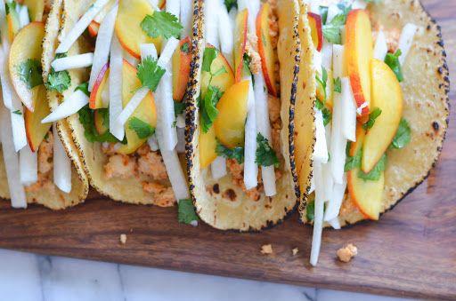 Jicama Peach Salsa w. Tuna Tacos Recipe   Yummly