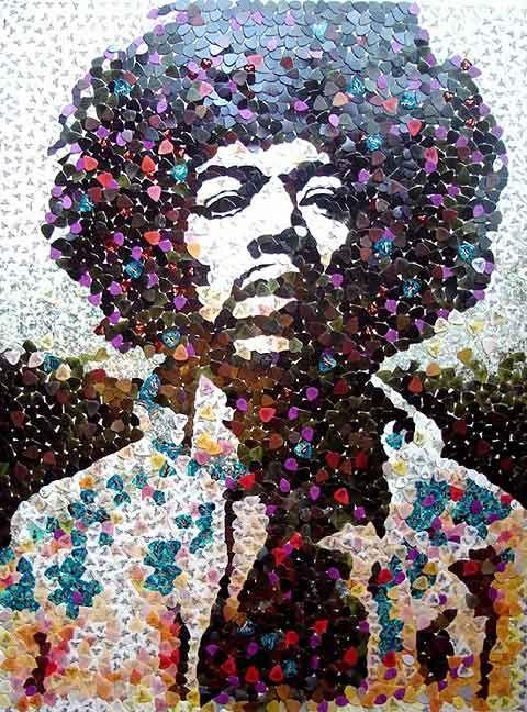 I love Jimi: Guitarpicks, Music, Guitar Picks, 5000 Guitar, Jimi Hendrix, Art, Jimihendrix, Mosaic