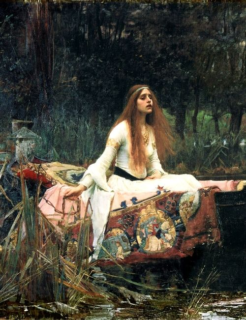 The Lady of Shalott by John William Waterhouse  1888Romantic Painting, Old Lady, Oil On Canvas, Lady Told, Waterhouse 1888, Favorite Painting, John William Waterhouse, John Williams Waterhouse
