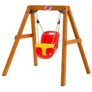 Plum® Wooden Baby Swing Set  I have the baby swing, bet we could just build the frame for it! Then I wouldn't have to take the 'big' swings off the swing set!