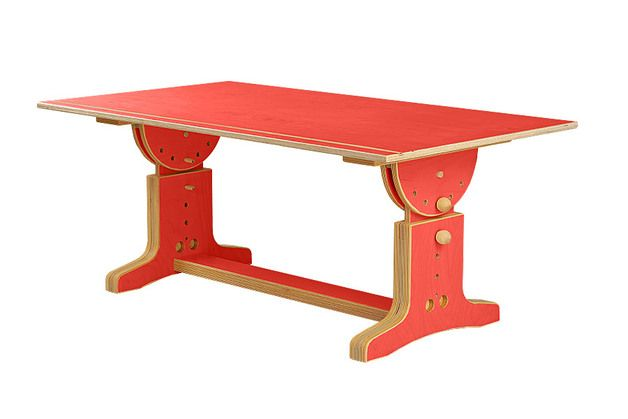 Рабочие столы - Регулируемая по высоте детский письменный стол - дизайнер кусок kindermoebel жалости на DaWanda