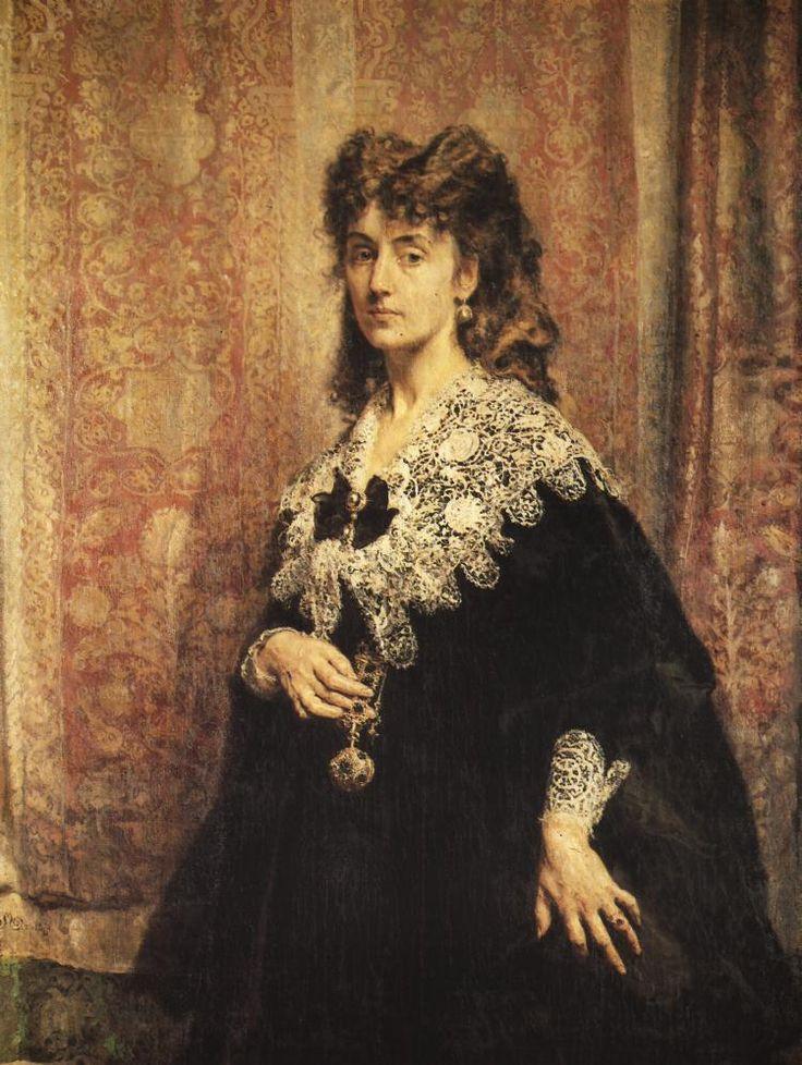 Portrait of Maria Puslowska - Jan Matejko