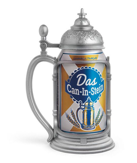 "Funny Gifts for Men | This ornate ""stein"" holds any standard 12-ounce can of beer and makes it look much, much fancier."