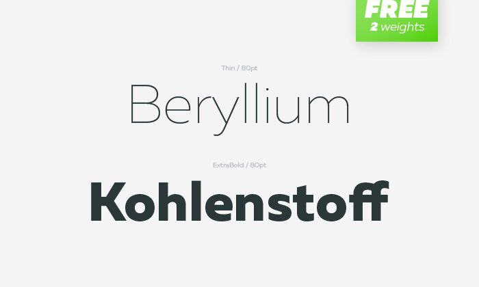 Muller font | Fontfabric™ - 2 Free Weights