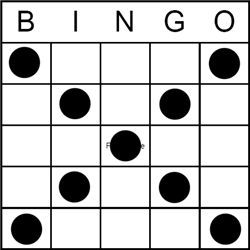 Bingo Game Pattern Letter X Bingo Pinterest Bingo