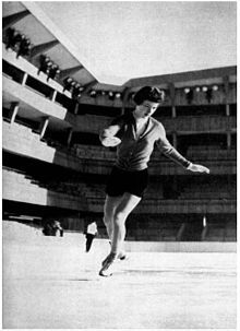 Tenley Emma Albright (born July 18, 1935 in Newton Centre, Massachusetts) is a former American figure skater. She is the 1956 Olympic champion, the 1952 Olympic silver medalist, the 1953 and 1955 World Champion, the 1953 and 1955 North American champion, and the 1952–1956 U.S. national champion.