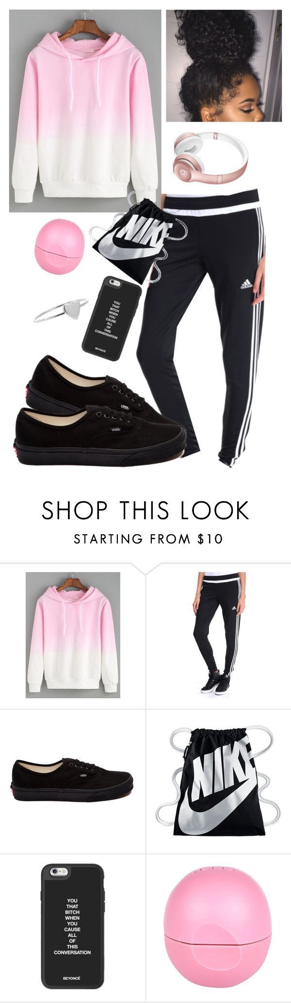 """Quick Day"" by jay-christina ❤ liked on Polyvore featuring adidas, Vans, NIKE, River Island and Jennifer Meyer Jewelry - #adidas #christina #fea..."