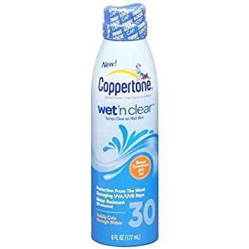 Coppertone Wet 'n Clear Continuous Spray Sunscreen, SPF 30 6 fl oz (177 ml) Review
