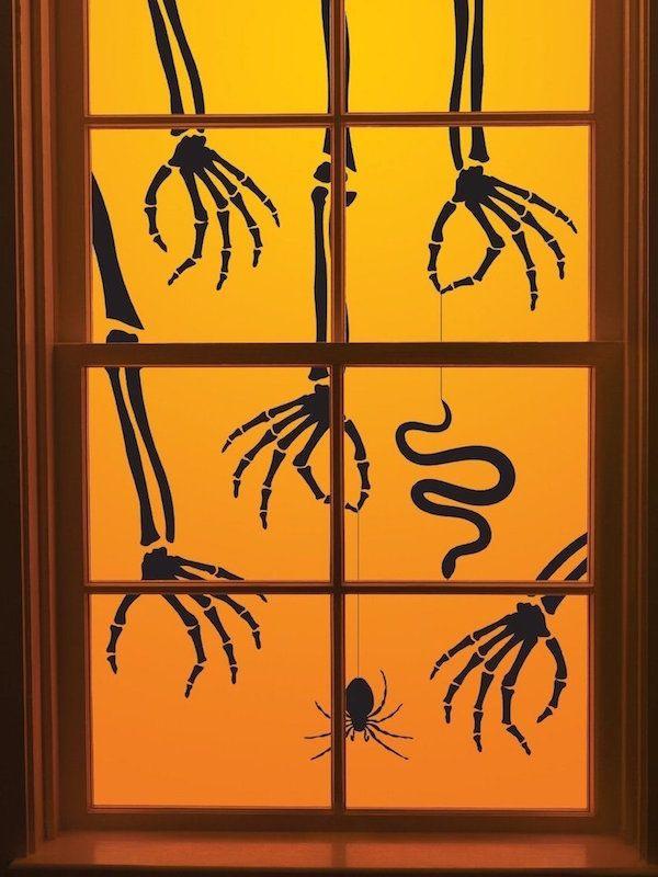 20 spooky halloween window decorations - Halloween Window Decals