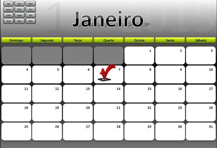 Calendário Semanal e Dário