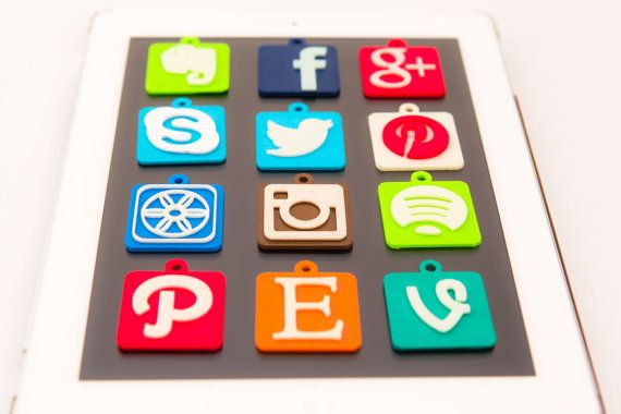 3D Printed iOS App Icons by Pixil3D on Etsy, $95.00
