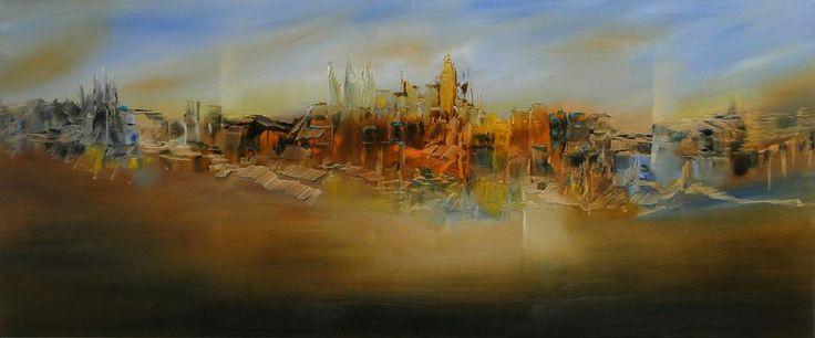 """""""Ensueño"""" - Monica Medina - Oleo sobre tela - 50 x 120 cm www.esencialismo.com"""