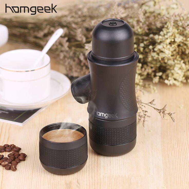 Homgeek Mini Portable Compact Manual Espresso Maker Black Coffee Maker Hand Operated Coffee Machine Cappuccino For Home