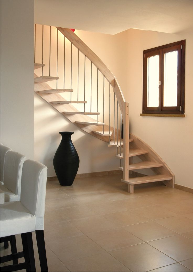 8 best images about escaliers bois on pinterest space for Garde corps escalier
