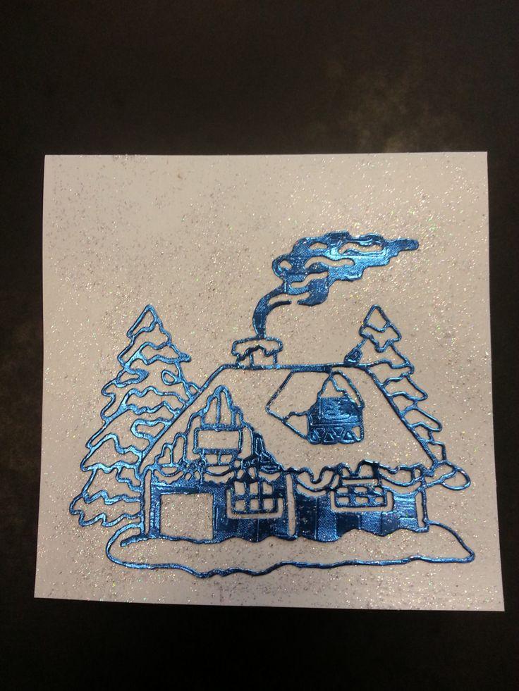 Carte de voeux Noël / Nouvel An / Meilleux Voeux / Joyeux anniversaire -  Maison sous la neige - faite main de la boutique MarielleCarterie sur Etsy