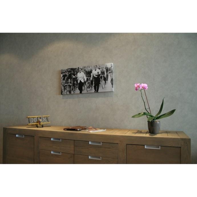 Canvas obers in wielerwedstrijd - Stijlvolle & Betaalbare Wanddecoratie | wanddecoratiestore.be