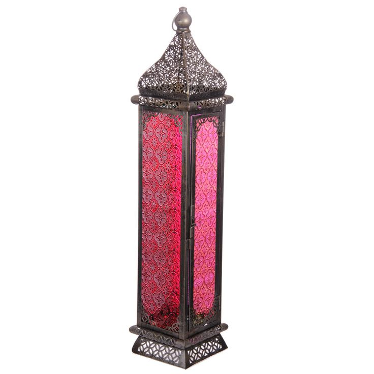Moroccan Style Lantern - Brushed Silver Large