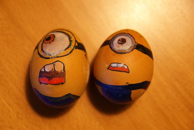 Minion easter eggs #3Crafts Ideas, Painting Rocks, Holiday Fun, Minions Diy, Easter Minions, Minions Eggs, Eggs Ideas, Easter Ideas, Minions Easter Eggs