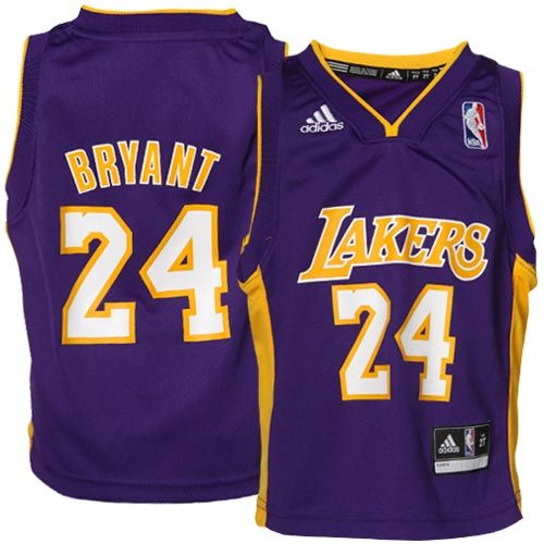 a952cc26da3 ... adidas Kobe Bryant Los Angeles Lakers Toddler Revolution 30 Replica  Road Jersey - Purple ...