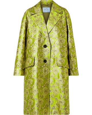 70c7c6a4f006c1 This Is the Luxurious Fabric Everyone Will Be Wearing This Summer |  Wardrobe inspirations | Coat, Fashion, Prada dress