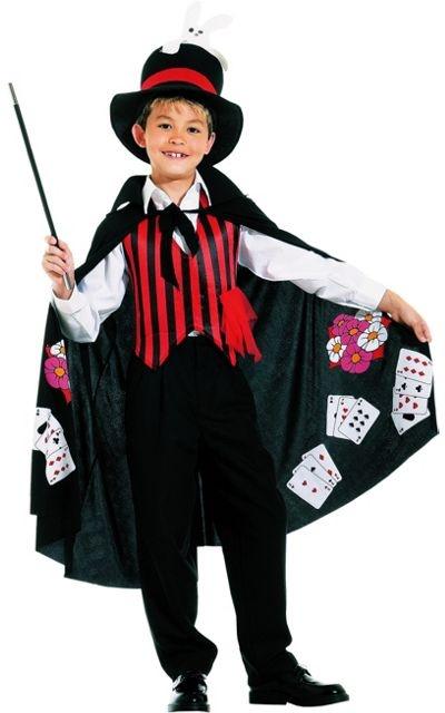 circo: mágico (pode ser feito bombacho em cetim listrado + blusinha + gola, gravata e punhos)