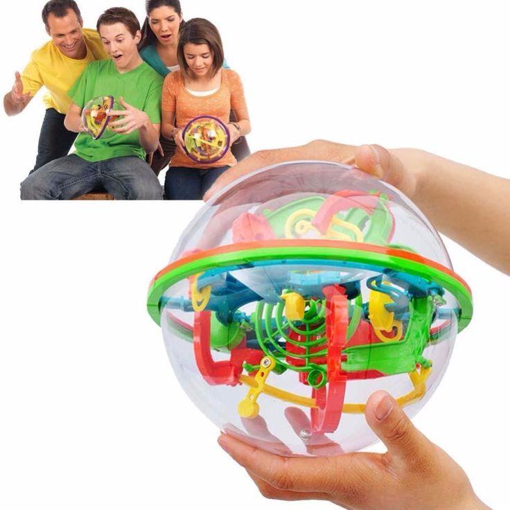 100 خطوات صغير كبير الحجم 3d متاهة السحر المتداول غلوب الكرة مكعبات لغز الدماغ دعابة لعبة المجال متاهة الرخام