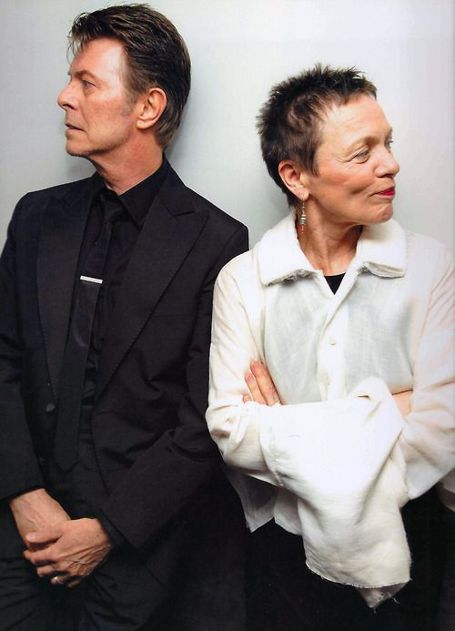 David Bowie and Laurie Anderson