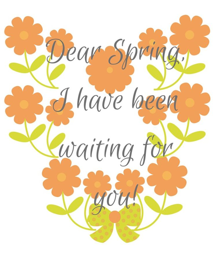 Free Download Spring Printable Picture. This is perfect for your spring decor or just for decorating your desk. Welcome Spring with this free printable.