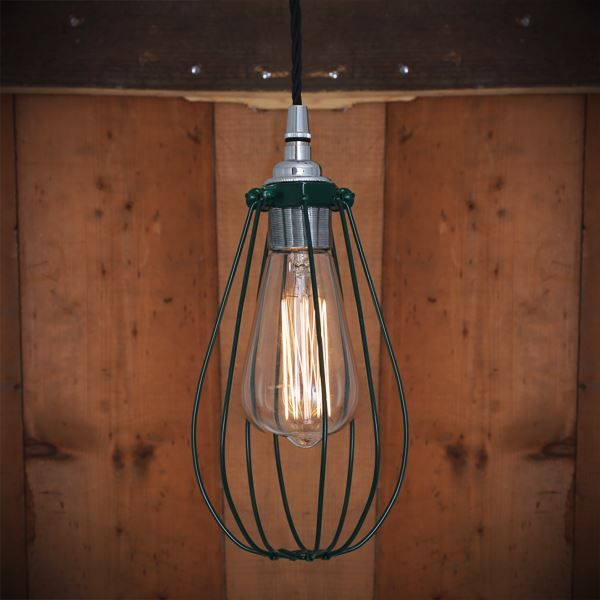 Evoking Early Industrial Lighting The Vox Vintage Cage Pendant Light Will Add Class And Character