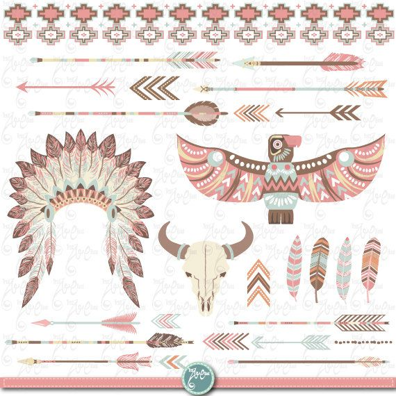 Tribal Clipart pack quot INDIAN CLIP
