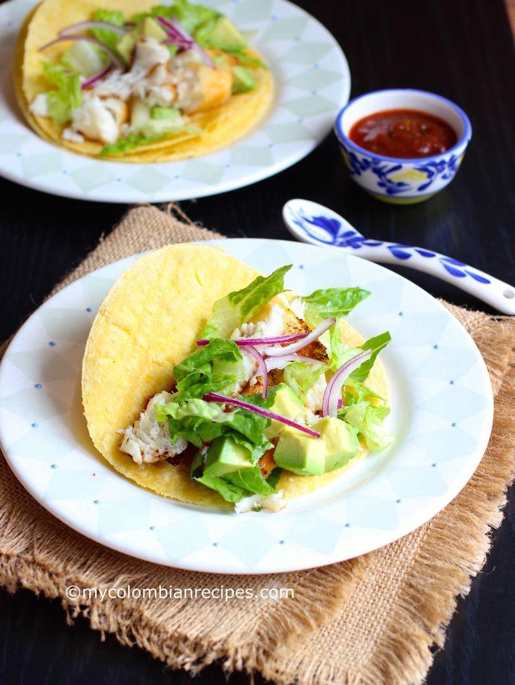 Tilapia Fish Tacos mycolombianrecipes.com