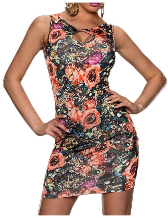 Robe Motif Fleur Cael https://api.shopstyle.com/action/apiVisitRetailer?id=508774762&pid=uid0-34412800-36&site=www.shopstyle.fr