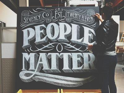 People Matter by Drew Melton via dribbble