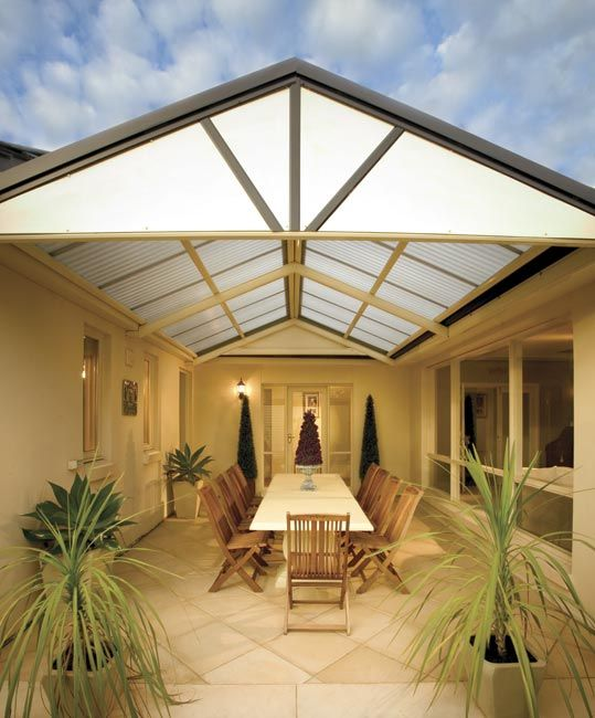 Stratco outback heritage gable awnings carports for Gable patio designs