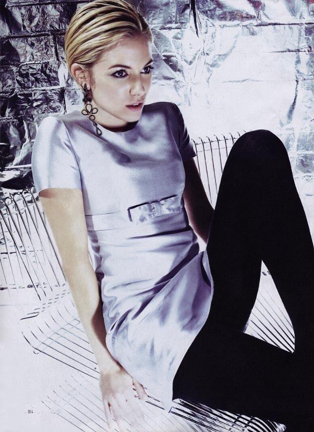 "Sienna Miller becomes ""Factory Girl"" Edie Sedgwick. Vogue Magazine 2006"