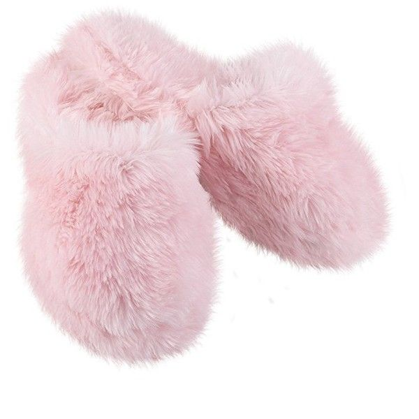 Amazon.com   Pink Fuzzy Wuzzies Slippers for Women, MD 7/8   Slippers (£16) ❤ liked on Polyvore featuring shoes and slippers