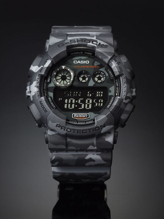 G Shock Mens GD-120CM-8D Camo Sport Watch | Watches in 2019