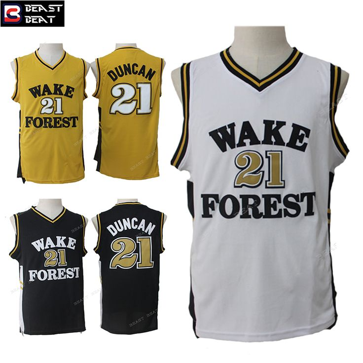 new products 2903f c44a8 wake forest demon deacons 21 tim duncan gold 2016 college ...