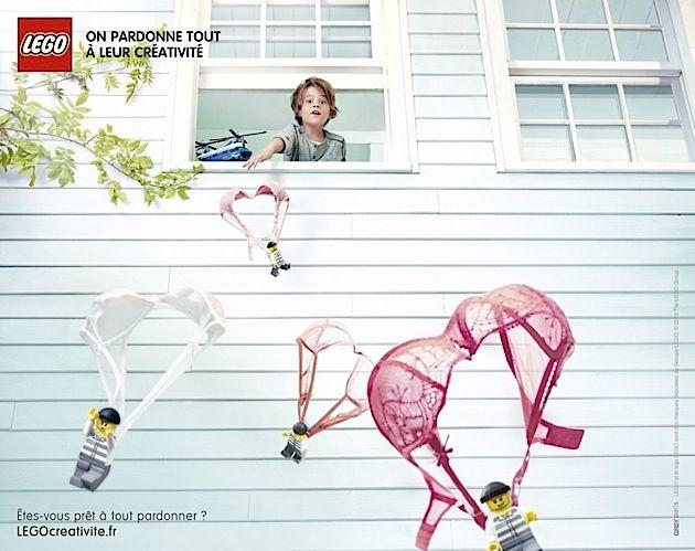Lego Print-Kampagne: Creativity Forgives Everything
