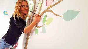Image result for pareti decorate a mano