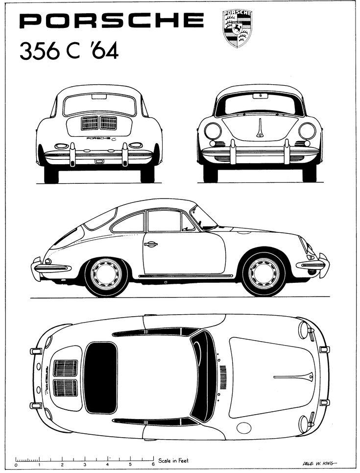 porsche 356c  1964