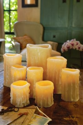Flameless Candles. I've seen different kinds, but none that look as real and rustic as these.Fake Candles, Decor Ideas, Flameless Candles, Events Decor, Gift Ideas, Soft Surroundings, Decor Inspiration, Fabulous Flameless, Home Accent