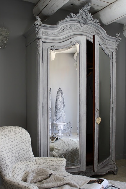 Beautiful White Washed Vintage #Armoire