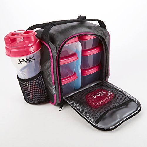 Jaxx Fuel Pack with Portion Control Containers Shaker Cup (Pink Black) Price : $39.99 http://shop.fit-fresh.com/Portion-Control-Containers-Shaker-Black/dp/B00NSM085E